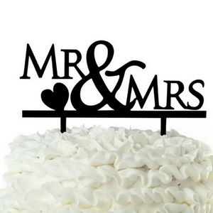NEW ASSORTED BLACK SHINY ACRYLIC CAKE TOPPERS